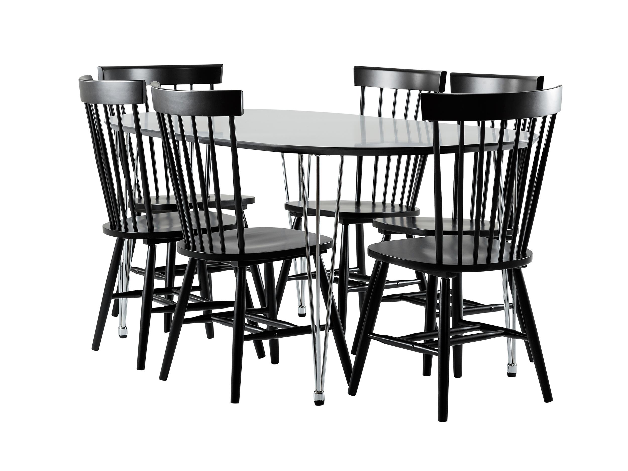 Billigt Koksbord Ikea : svart koksbord  studio karin SVARTA OCH VITA BORD OCH EAMES STOLAR