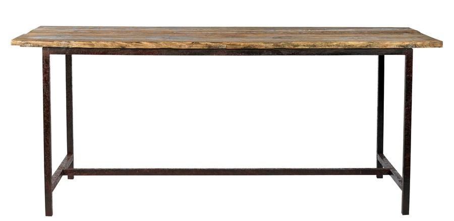 Design Koksbord : Snyggt vintage matbord skivor av grov otervunnen furu Med sin grova