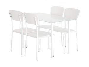 matgrupp bestående av köksbord och stolar