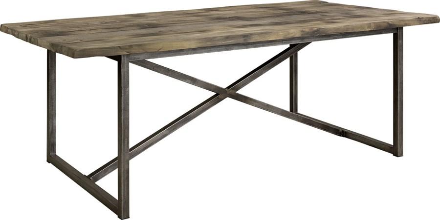 Rustikt Koksbord : Rustikt matbord med otervunnet tro till skiva, och underrede i