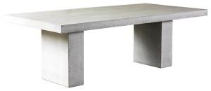 Ljust bord i betong, passar inomhus och utomhus