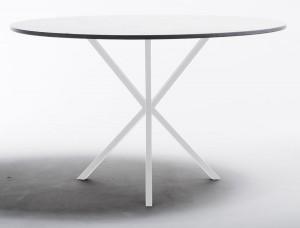 köksbord vitt med rund design