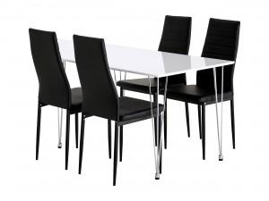 vitt köksbord och 4 stolar