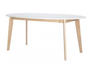 Ovalt köksbord 180 cm vitt
