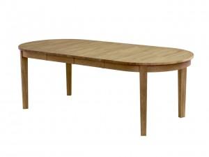 ovalt köksbord i massiv ek