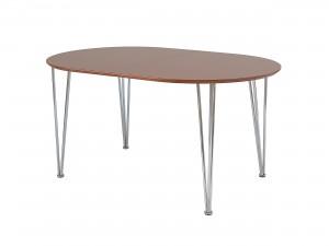 ovalt köksbord matbord med skiva i ek