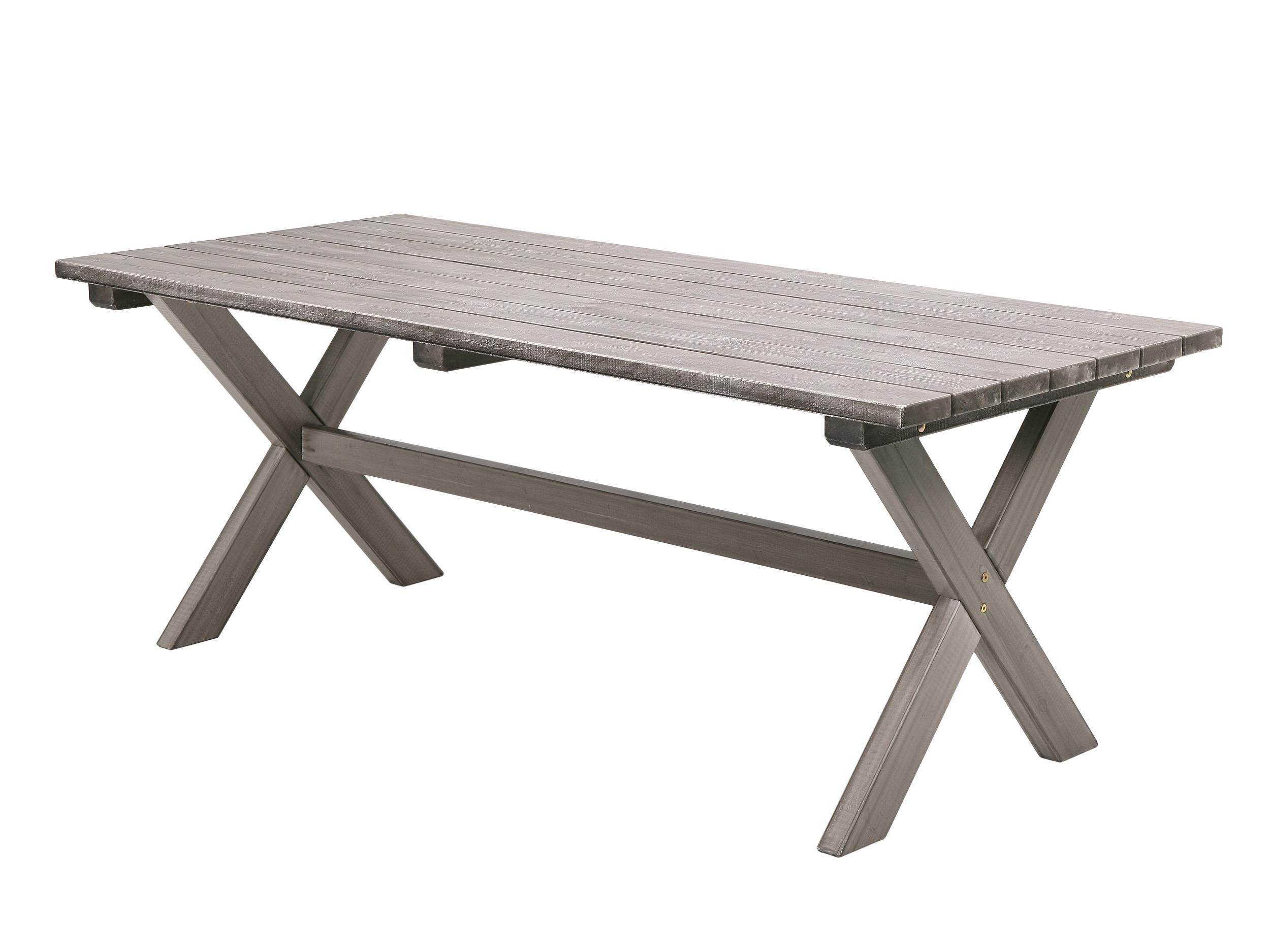 Snyggt vintage matbord skivor av grov ?tervunnen furu Med sin grova