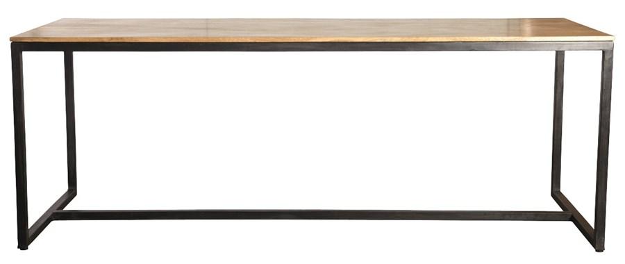 Rustikt Koksbord : Stort matbord med bordsskiva i massivt mango tro och underrede i