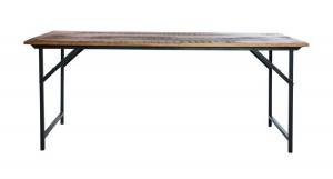 rustikt matbord i järn och trä