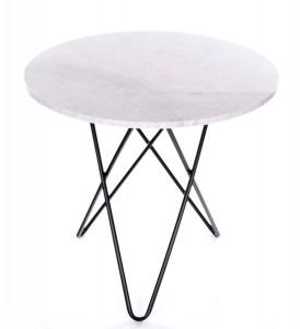 vitt matbord med marmorskiva