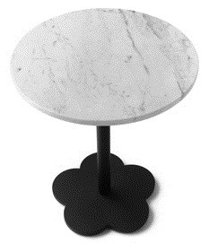 litet köksbord skiva i marmor underrede i stål